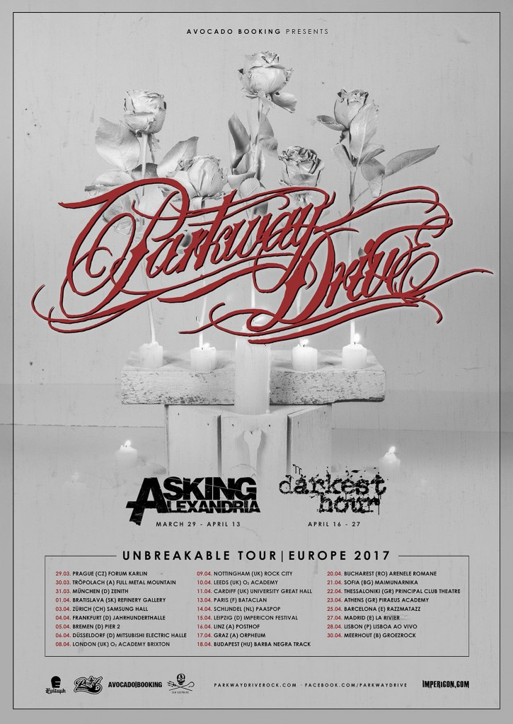Parkway Drive Unbreakable Tour
