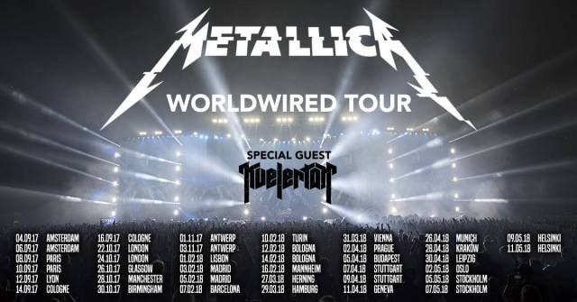 Metallica auf großer WorldWired Tour in Europa!